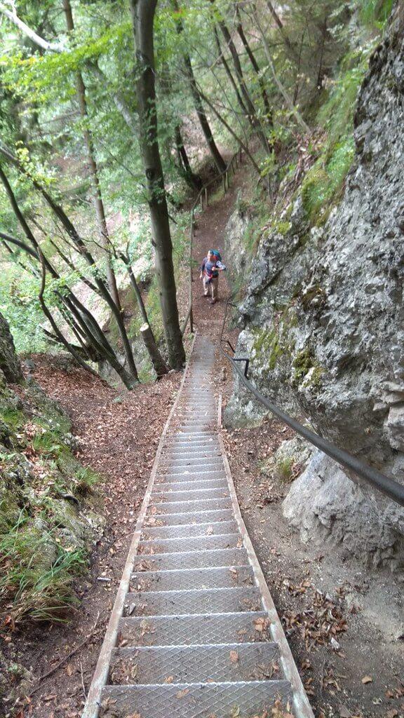 Stepenice na putu prema Maloj Osojnici.