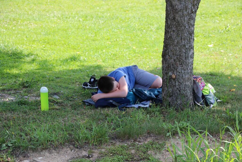 Odmor u hladovini prijamnog centra Krapje
