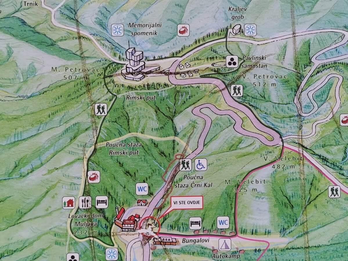 Petrova gora - karta