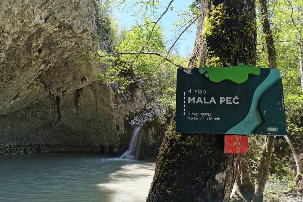 Slap Mala Peć - staza 7 slapova