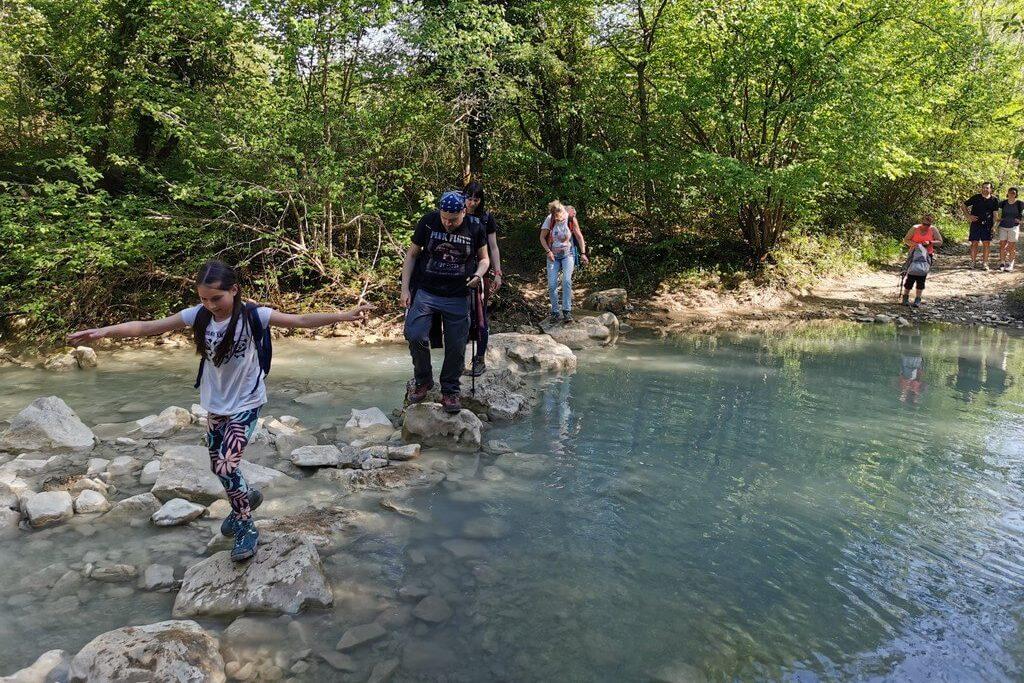 Prelazak preko Mirne - staza 7 slapova